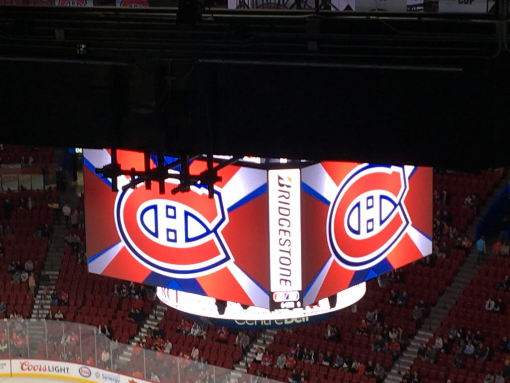 montreal canadiens at the bell centre