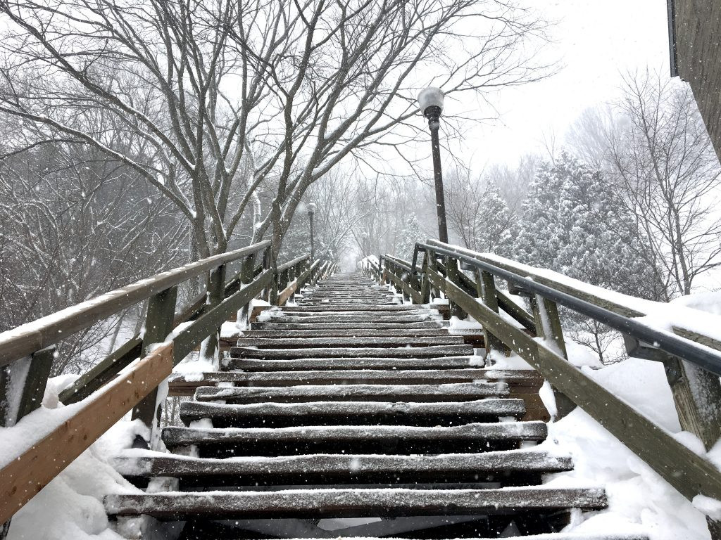 cap blanc stairs